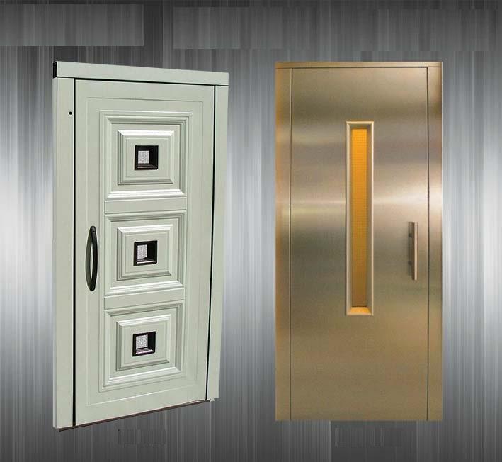 ۲ مدل درب طبقه آسانسور از نوع لولایی